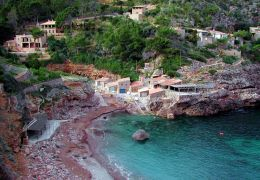 Cala Deia from above